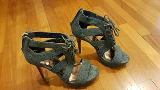 Nine West Denim heels 36