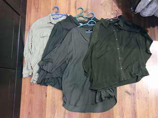 Many shades of Navy Green