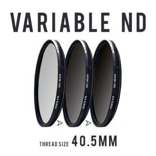 Variable ND filter 40.5mm (adjustable ND2 to ND400)