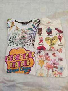 Assorted white printed shirts!