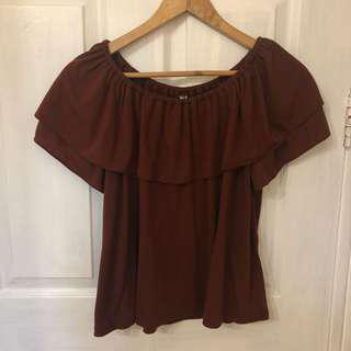 Uniqlo Offshoulder Top