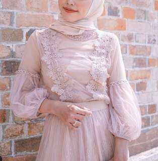 Lace top with lining