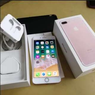 iPhone 7plus 128GB Rose gold full box with accessories.