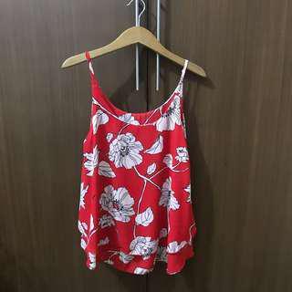 Chiffon floral sleeveless