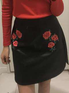 Embroidered Rose Skirt #mcsfashion