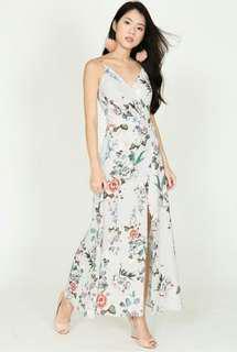 MDS Floral Grey Dress