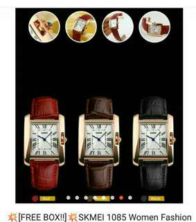 💥[FREE BOX!!]💥SKMEI 1085 Women Fashion Casual Quartz Watch Elegant For Female