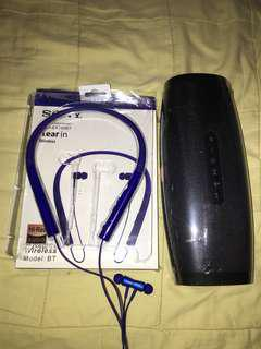 BIG JBL WIRELESS SPEAKER&SONY WIRELESS NECKBAND