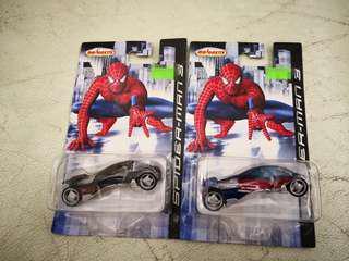 Majorette spiderman 3 car 車仔,兩架共$40  一黑一紅