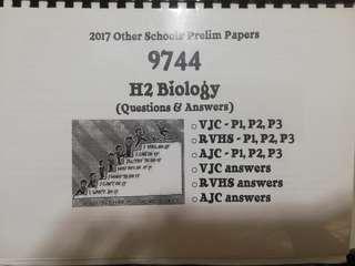 9744 H2 Biology Prelim Papers