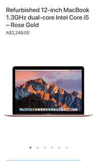 Apple Macbook 12inch Rose Gold