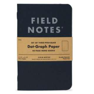 🚚 Field Notes - Pitch Black Memo Book (Ruled paper or Dot-Graph).