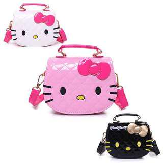 (Ready Stock) Black Hello Kitty Small Sling Bag