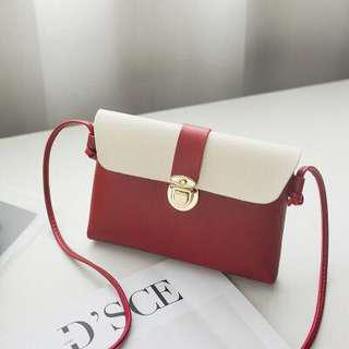 (Ready Stock) Red Thin Small Sling Bag