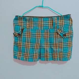 🚚 NET格紋短裙 8號