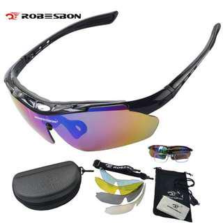 🚚 Sports Sunglass Set - 5 lens