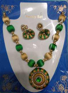 Indian necklace and jimiki set