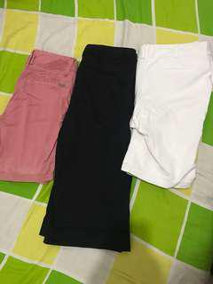 Pink white black shorts bundle