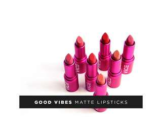 VICE COSMETICS GOOD VIBES MATTE LIPSTICKS 💄