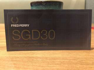 Fred Perry Voucher SGD 30