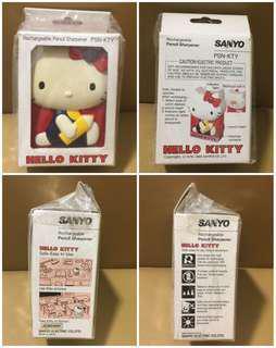 Sanrio Hello Kitty 1985 年 (SANYO 三洋) 電動鉛筆刨 (Made in Japan) 全新未用過 (AC 220-240v) (** 只限北角地鐵站交收 **)