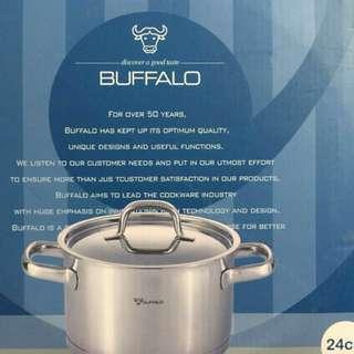 牛頭牌雅登歐式不鏽鋼雙耳湯鍋