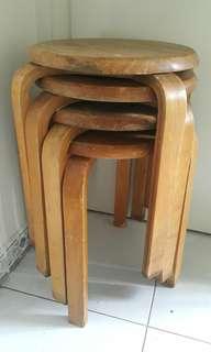 Wooden Chair 實木圓凳椅子