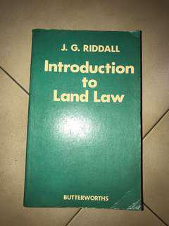 Want to learn about land law? Here's your book!