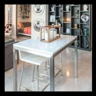 Crate & Barrel Marble Table