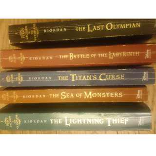 Percy Jackson series - all 5 books in excellent condition