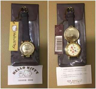 Sanrio Hello Kitty 1988 年 有蓋及錶面公仔會隨時間轉動手錶 (Made in Japan) (** 30 年曆史~ 運作不能確定是否正常~ 只係收藏 **) (** 只限北角地鐵站交收 **)