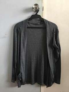 Free size gray cardigan