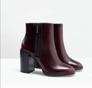 Authentic Zara Boots Oxblood Burgundy #Letgo50