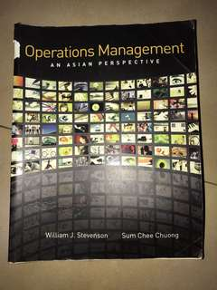 Operations management: an Asian perspective by Stevenson and Chuong