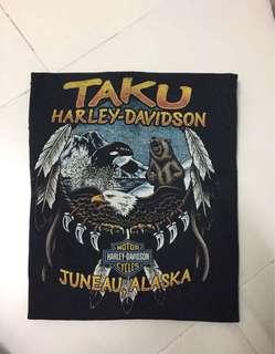 Harley davidson big size tshirt half button
