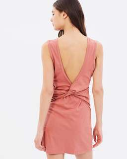 Nude Lucy Brinkley Knot Back Dress - Brick