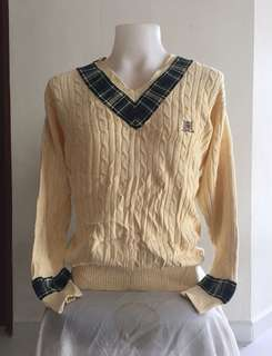 Tommy hilfiger golf sweater knitwear logo sulam
