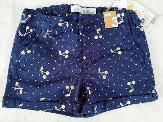 New cotton on cherry short pants size 3T