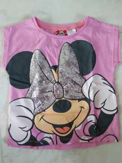 Preloved Minnie Mouse Top from Target size 2T