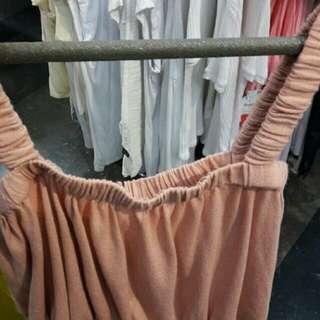 Zara nude crop top