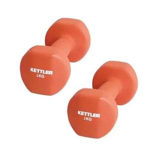 Kettler Dumbell Neoprene 4Kg Merah - Kettler Barbel Neoprene 4Kg Merah