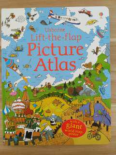 New Usborne Lift The Flap Picture Atlas