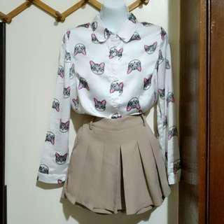 代售)茶色褲裙s #滿百出貨