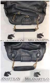 21ac2d33169 REPAIR OF BROKEN CHAIN ON BAG BEAUTIFULLY DONE BY OUR EXPERIENCE MILAN  ARTISANS !