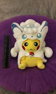 Pikachu in Ninetales suit