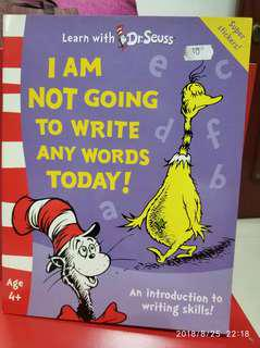 🚚 Dr. Seuss: I am not going to write any words today!