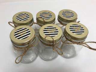 'Thank You' mason jars