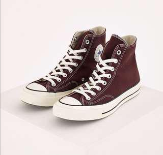 [Many Sizes] Converse Chuck Taylor 70s Burgundy High Cut