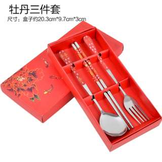 Cutlery kitchen set stainless steel (spoon, fork, chopstick)