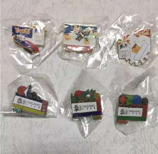 Coca Cola Olympic pin badge set - japan